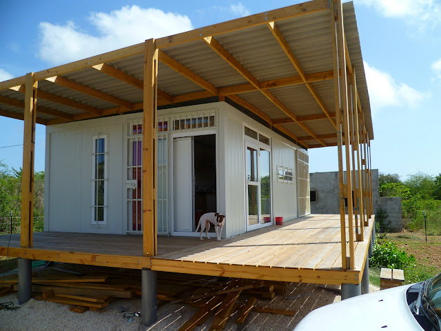 Caribbean shipping container home