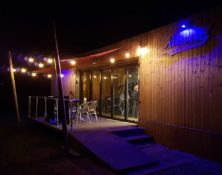 reserved cafe bistro at night