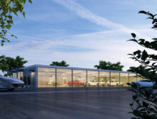 Electric Car Showroom Render Main